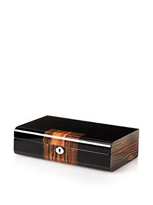 Nathan Direct Two Tone Jewelry Case, Burl/Black