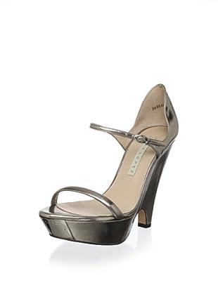 Pura López Women's Modified Wedge Sandal (Murano Seed)