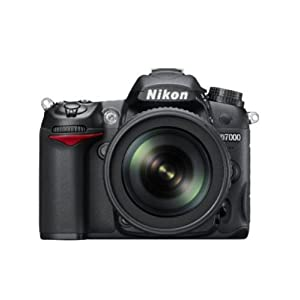 Nikon D7000 16.2MP Digital SLR Camera Body Only (Black) with 4GB Card, Camera Bag