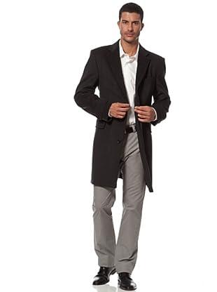 Caramelo Abrigo Vestir Bolsillo Recto (gris)