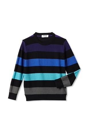 Sonia Rykiel Girl's Wool Knit Multicolor Stripe Sweater (Multi)
