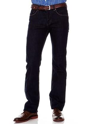 Cortefiel Pantalón Low Straight (Azul)