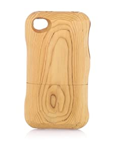 Real Wood iPhone 4/4S Case, Flat Head Knife, Japanese Yew