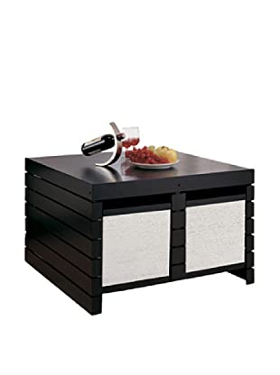 Neu Home Devine Coffee Table with Baskets, Black