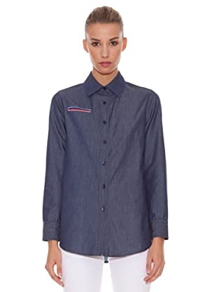 Hakei Camisa Denim Bolsillo Vivo (Azul Oscuro)