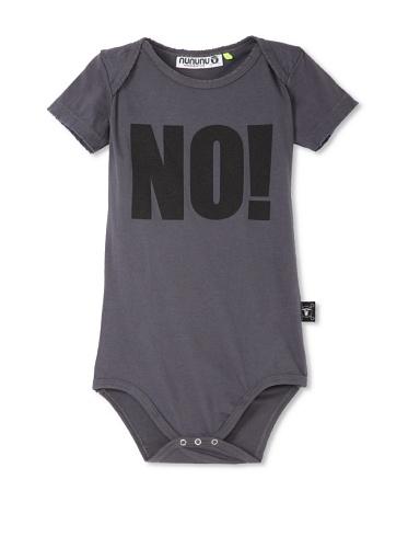 NUNUNU Baby NO! Bodysuit (Dark Grey)