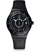 Swatch Women's Originals SUTB400 Black Leather Automatic Watch