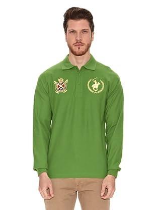 Polo Club Polo Manga Larga Custom Fit (Verde)