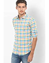Checks Yellow Casual Shirt Basics