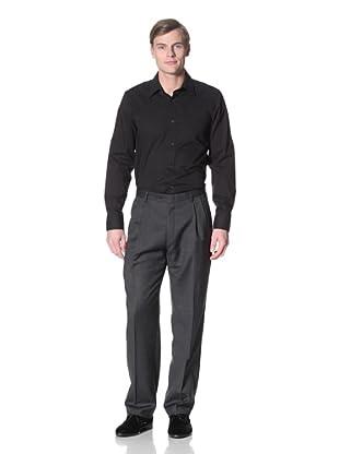 Hart Schaffner Marx Men's Pindot Trouser (Navy)