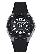 Calypso Black PU Analog Men Watch K5634 1