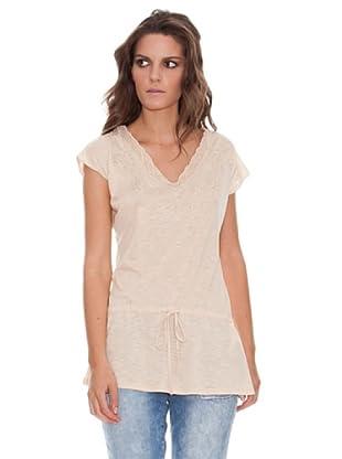 Naf Naf Camiseta Cordón (Beige)
