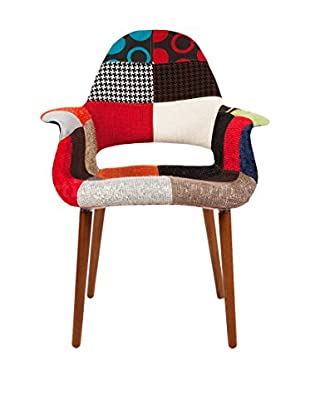 Macer Home Organic Arm Chair, Patchwork