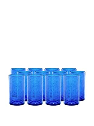 Artland Iris Set of 12 Highball Glasses, Cobalt