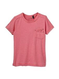 Joe's Jeans Girl's Short Sleeve Scoop Neck Tee (Hot Pink)