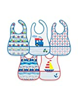 green sprouts' by i play.' 5-Pack Waterproof Eva Bib in Train