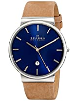 Skagen Ancher Analog Blue Dial Men's Watch - SKW6103
