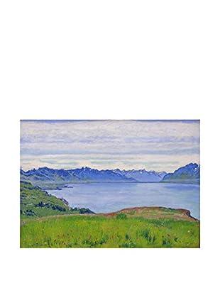 Legendarte Lienzo Paesaggio Al Lago Di Ginevra di Ferdinand Hodler