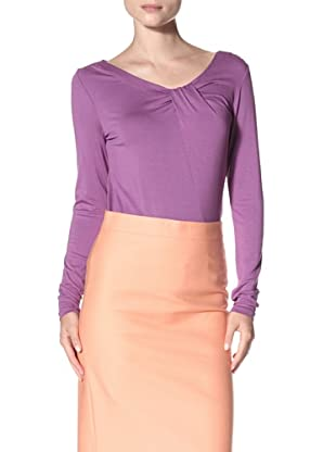 Cullen Women's Twist Neck Top (Heather Purple)