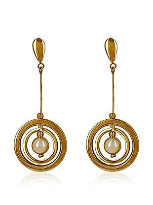 Pearly Ohrringe  gold/weiß