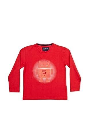 Seaman Camiseta Robot Goma (Rojo)