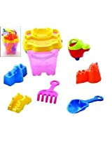 Summer Fun Bucket Of Beach Toys Set (6 Piece)