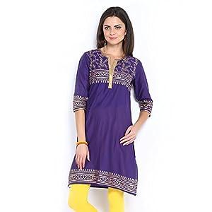 Shree Women Purple Printed Kurta