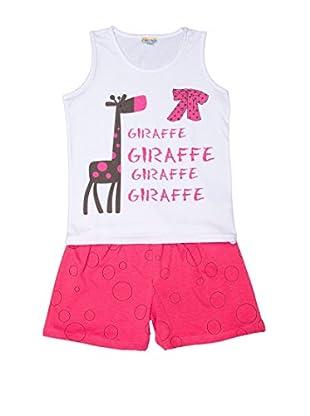 Pillerias Pijama Jirafa / Lazo Tríkala (Rosa / Blanco)