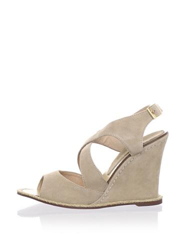 André Assous Women's Facelest Open-Toe Sandal (Taupe Suede)