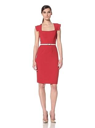 Single Women's Veronika Scoop Neck Dress (Red)