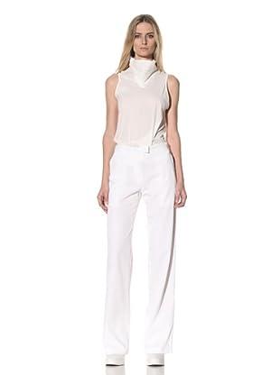 Ann Demeulemeester Women's Adjustable Waist Trousers (White)