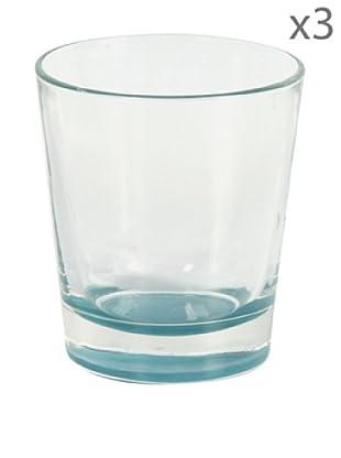 Delys by verceral Lote De 3 Vasos Para Agua