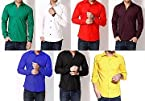 RPB Combo of 7 Cotton Plain Men Shirts