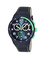 Swatch Blue Leather Analog Men Watch SUSN402