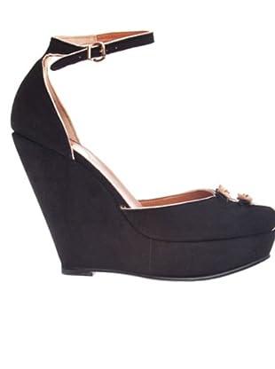 RAS Zapatos Suede (negro)