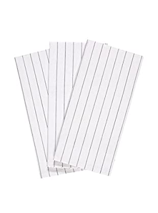 KAF Home Set of 3 Glass Towels, White