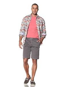 EQ Men's Cotton Twill Plain Front Short (Shadow)