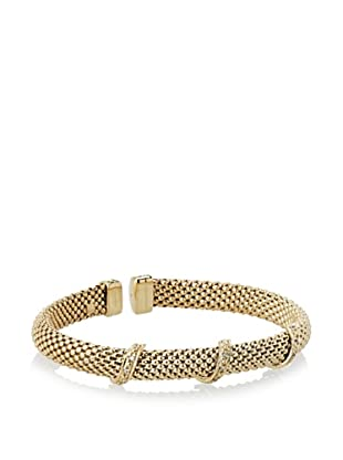 Argento Vivo Triple Pave Bars On Woven Cuff Bracelet
