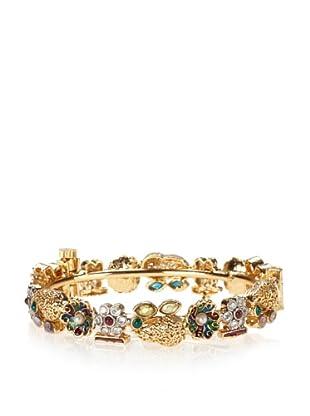 Taara Jeweled & Enameled Flower Bangle, Multi-Color