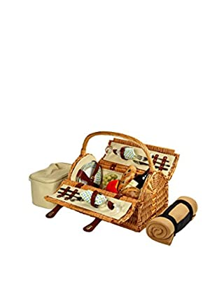 Picnic At Ascot Sussex Basket For 2 with Blanket, Gazebo