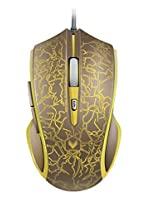 Arion Rapoo V20 Gaming Mouse With 16 Million Colors Smart Breathing Light - Gold