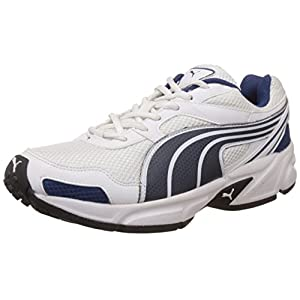 Puma Men's Burno Ind. White and Insignia Blue Mesh Running Shoes - 7 UK/India (40.5 EU)