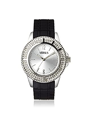 Versus by Versace Women's SGM050013 Tokyo Crystal Black/Silver Rubber Watch