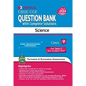 Oswaal CBSE CCE Question Bank with Complete Solutions: Science for Class 9 Term II