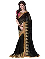 Brasso Black & Colour Saree for Party Wear