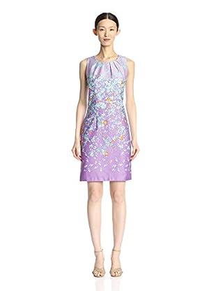 Chetta B Women's Ombre Cotton Floral Print Dress