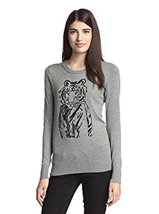French Connection Women's Sequin Tiger Sweater