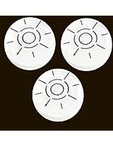 Desmond 3 x Bullseye Level 31.5mm x 11.5mm Disc Bubble Spirit Round Circular Circle
