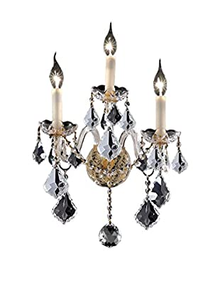Crystal Lighting Alexandria 3-Light Wall Sconce, Gold