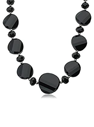 Riccova Avant-Garde Black Faceted Glass Necklace